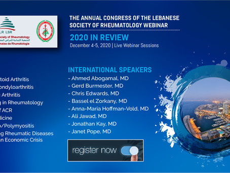 The Annual Congress of The Lebanese Society of Rheumatology Webinar
