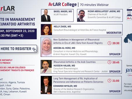 ArLAR College 2nd Webinar