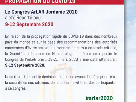 Annonce importante #arlar2020