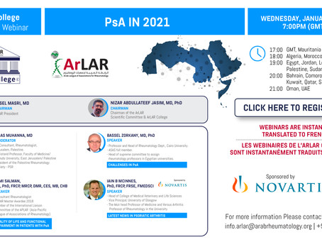 ArLAR College PsA in 2021 Webinar