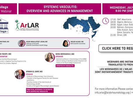 ArLAR College Webinar - Wednesday, July 28th