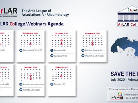 ArLAR College - Calendar of Webinars