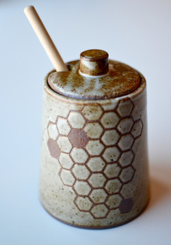 Honeycomb Honey Pot
