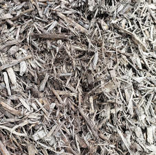Chocolate dyed mulch