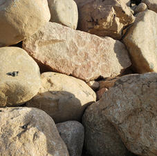 Rounded river rock boulders