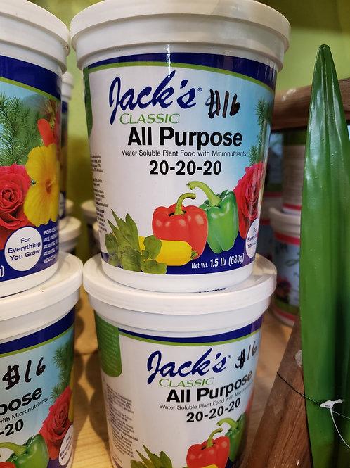 Jacks All purpose fertilizer 20-20-20
