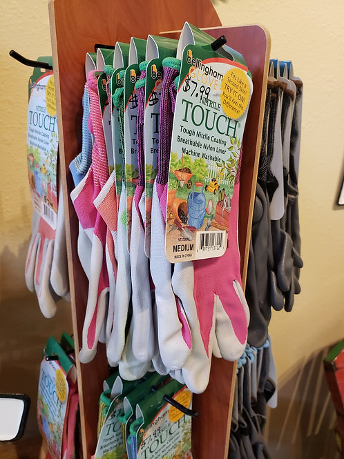 Colored Gardening gloves