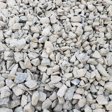 "1.5"" Fractured multicolor granite"