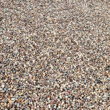 """3/8"""" Rounded pea gravel"""