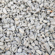 "1.5"" Fractured blue/gray granite"