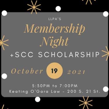 LLPA's Membership Night +SCC Scholarship