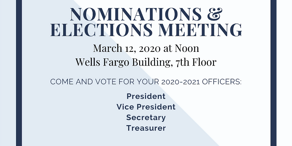 Elections Meeting for 2020-2021 FY