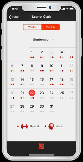 Coach Platform - Athlete Tracking- Month