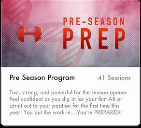 Softball - PreSeason Prep