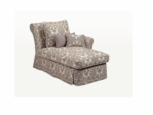 Lacy One Arm Chaise (Product Price as Shown)