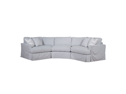 Davenport Angled Wedge Sectional (As Shown in Photo)