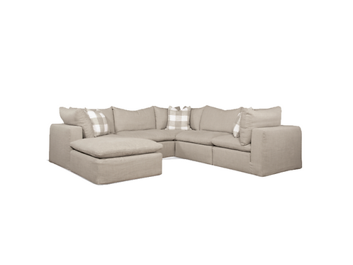 Kali Slipcovered Sectional (As Shown in Photo)
