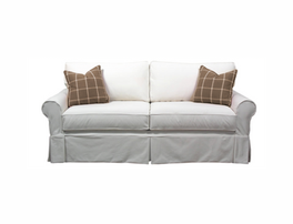 Abercrombie 2-Seat Box Back Sofa