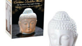 Thai Buddha Oil Burner Buddha Head Wax Melts Ornament Spa Ceramic Tea Light