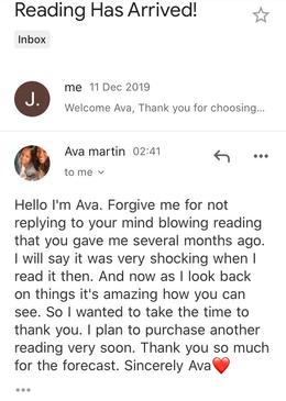 Ava. M's Feedback - May 2020