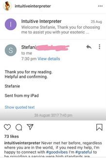 Client Feedback Stephanie