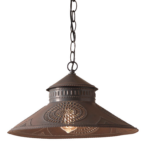 16 '' Shopkeeper Shade Light with Chisel in Kettle Black