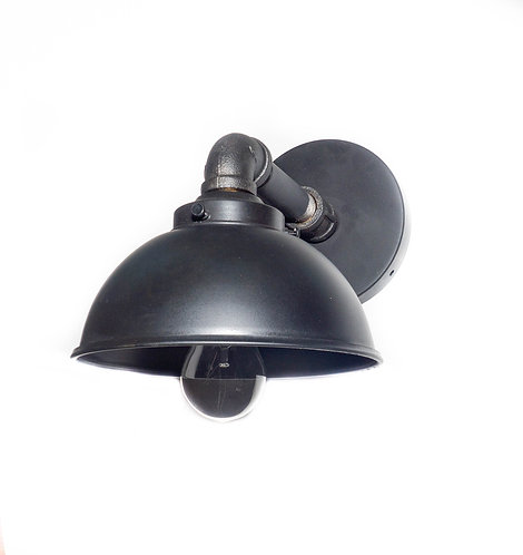 Industrial Satin Black Iron Wall Sconce