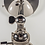 Thumbnail: Polished Nickel Adjustable wall Sconce, White Porcelain Shade