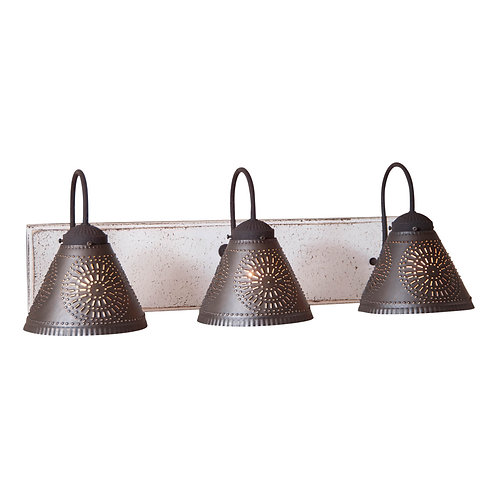Classic Country 3 Light Crestwood Vanity Light in choice of finish