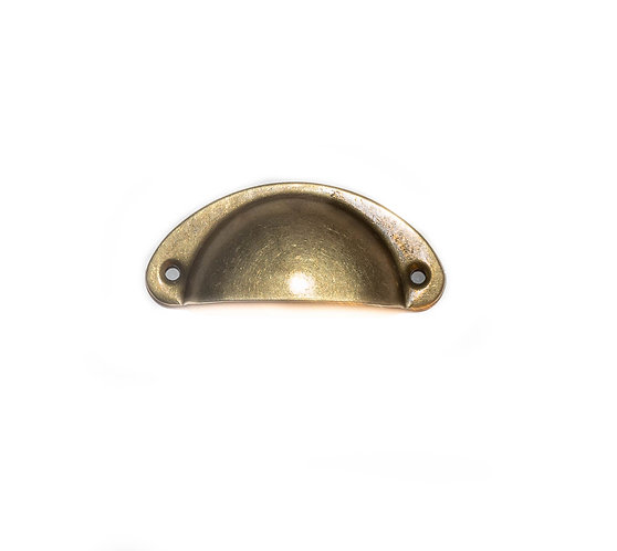 Retro Style Brass Cup Pull , Dresser , Kitchen Pull