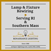 lamp & fixture rewiring service company RI MA