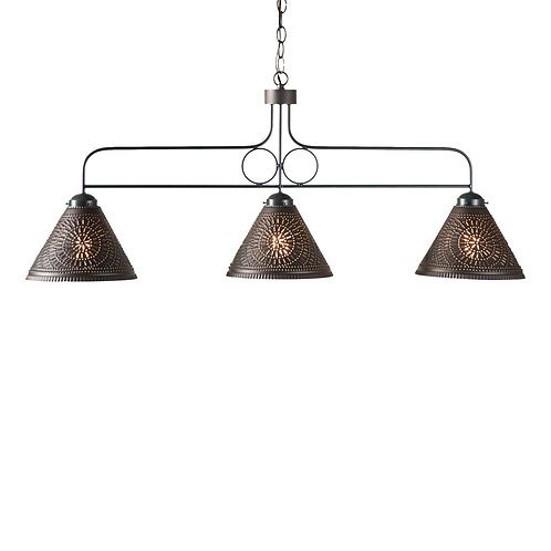 Large Franklin Island Light with Chisel in Kettle Black