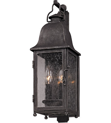 Larchmont 2 Light 19 inch Aged Pewter Outdoor Wall Sconce