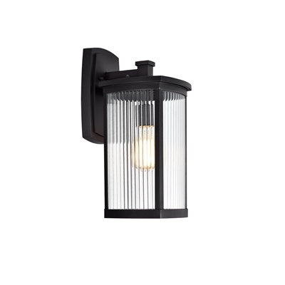 Transitional 1 Light Textured Black Outdoor Wall Sconce 17''