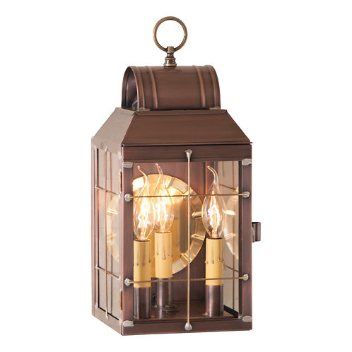 Martha's Wall Lantern in Weathered Brass or Copper