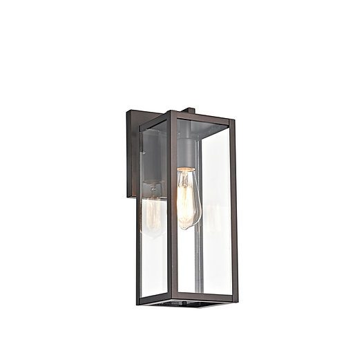 """Transitional 1 Light Rubbed Bronze Outdoor Wall Sconce 14"""" Height"""