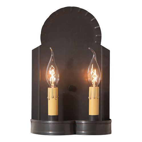 Classic Hanover Double Wall Sconce in Kettle Black