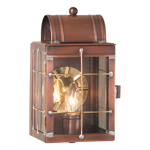 Small Wall Lantern in Antique Copper or Antique Brass