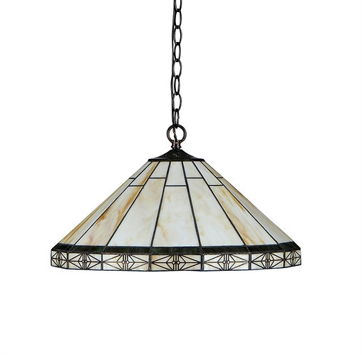 "Tiffany-style Mission 2 Light Ceiling Pendent 18"" Shade"