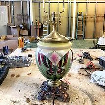 electric floor - table lamp repair - metal restoration - refinishing  - replating - crystal chandelier cleaning
