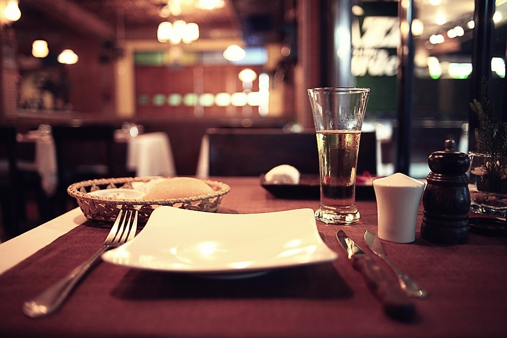 Empty plate on a beautiful table.