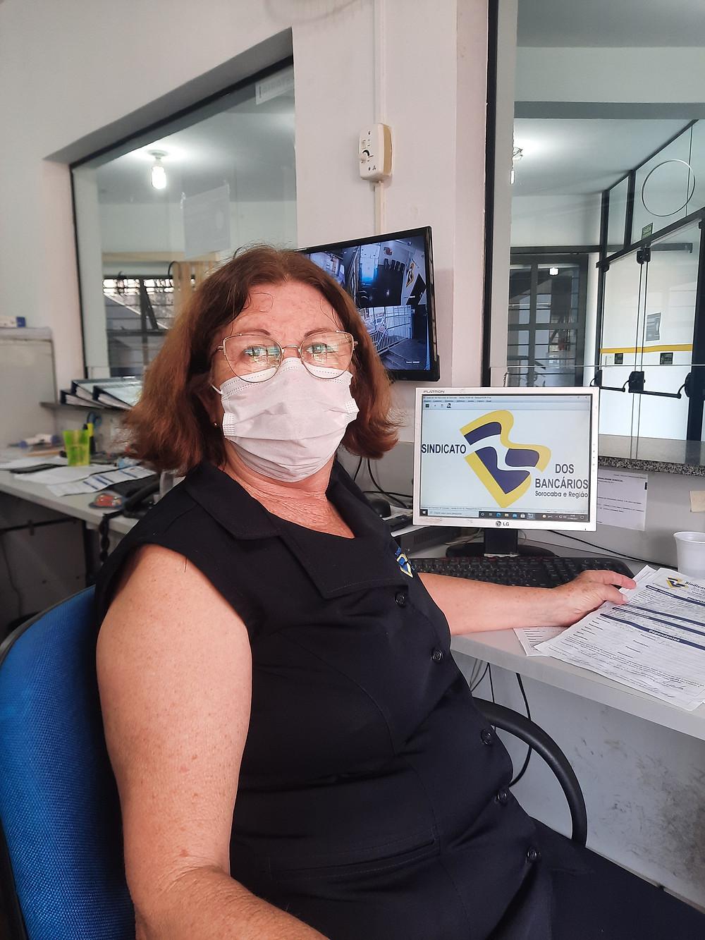 Maria Helena é escriturária no Sindicato