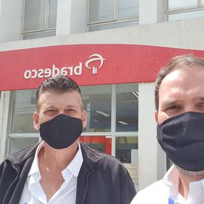 Diretores do Sindicato dos Bancários de Sorocaba visitam trabalhadores da região