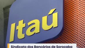 Sindicato dos Bancários de Sorocaba registra falta de água na agência do Itaú, em Itu