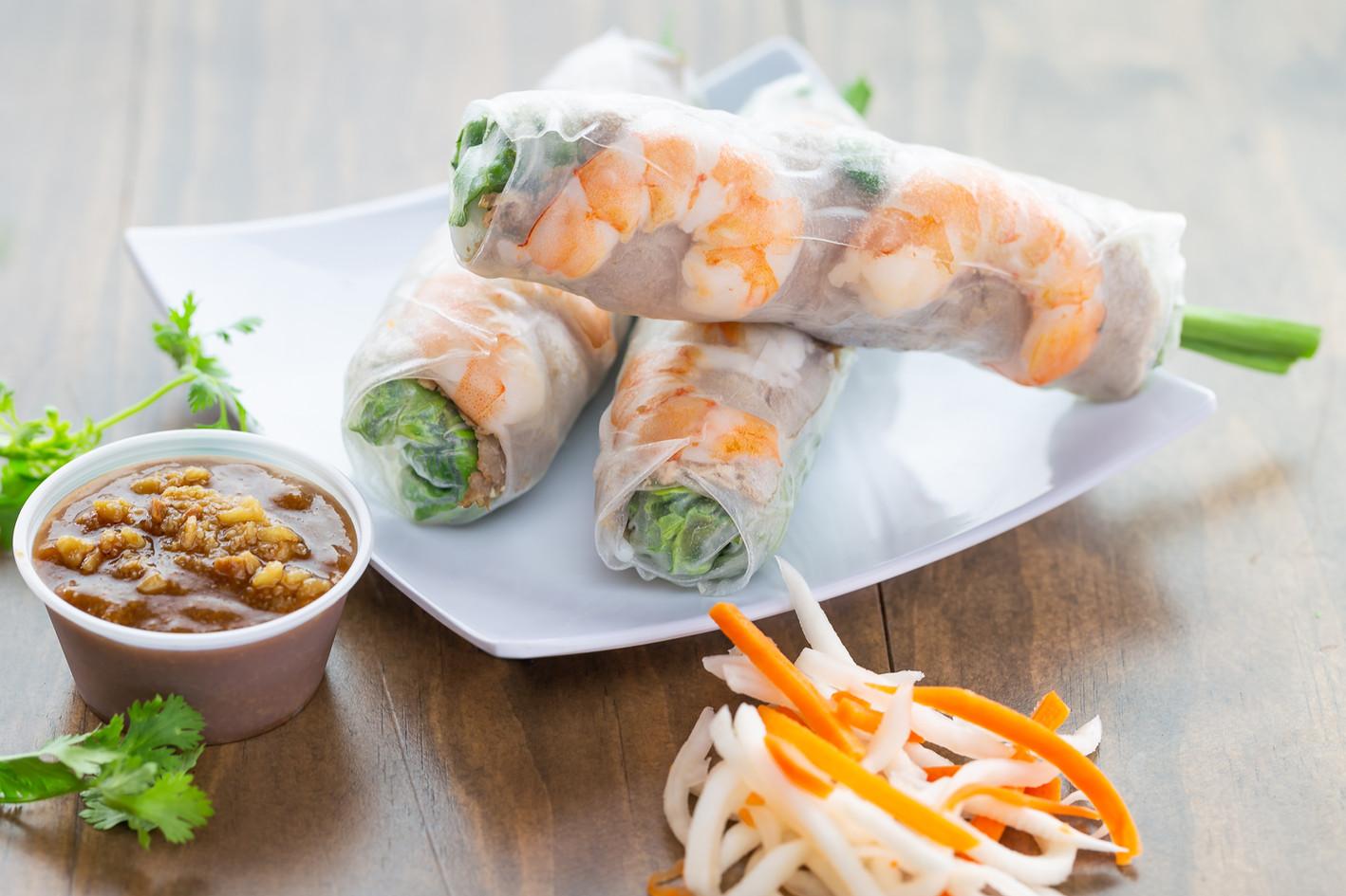 Gỏi Cuốn Tôm Thịt  Pork and Shrimp Sprin