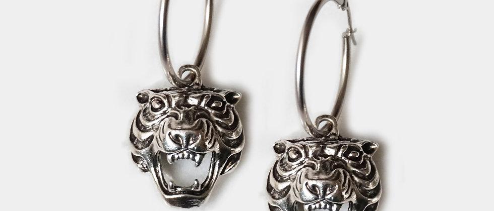Le Tigre Hoops - Silver