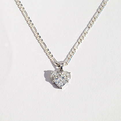 Heart of Glass Pendant - Silver