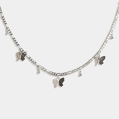 Dreamer Butterfly Choker - Silver