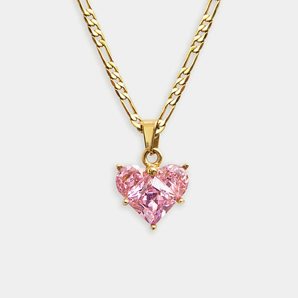 Heart of Glass Pendant – Rose Pink