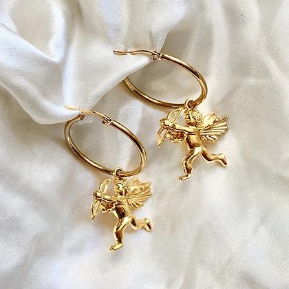 Cupid's Arrow Hoops